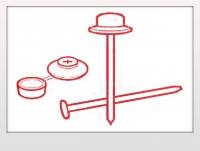 Гвозди с закрывающимися шляпками - Ондулин