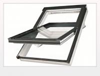 Пластиковое окно со среднеповоротным открыванием, FAKRO