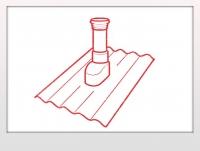 Вентиляционная труба - Ондулин